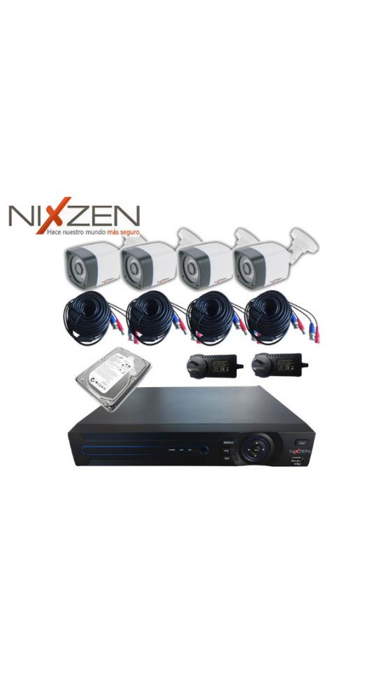 Kit 4 Cámaras HD 720P DVR 4 Canales Disco 1TB