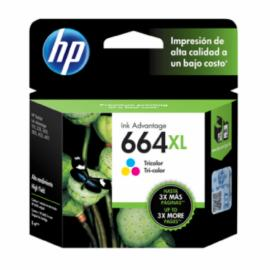 Cartuchos de Tinta HP 664 XL Color