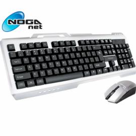 Combo Inalambrico Noganet NKB-STEEL Gaming