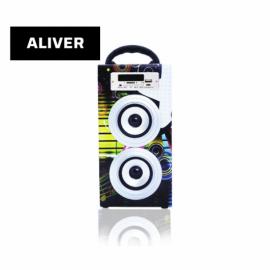 Parlante Portatil Inalambrico 10W USB SD AUX Aliver ALIV02-2