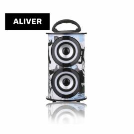 Parlante Portatil Inalambrico 10W USB SD AUX Aliver ALIV07-2