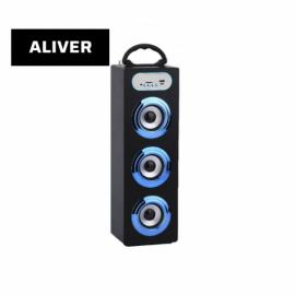 Parlante Portatil Inalambrico 10W USB SD AUX Aliver ALIV06-1