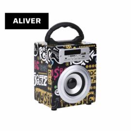 Parlante Portatil Inalambrico 5W USB SD AUX Aliver ALIV03-1